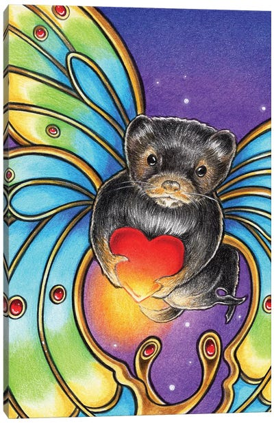 Mink Butterfly Canvas Art Print