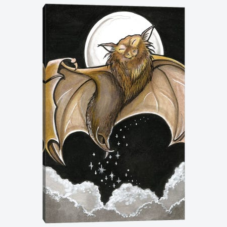 Moonlight Bat Canvas Print #NEW21} by Natalie Ewert Art Print