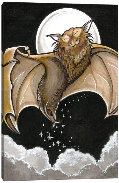 Moonlight Bat Canvas Art Print