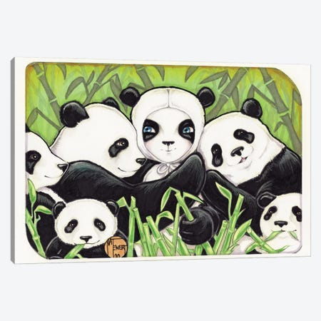 Panda Family Canvas Print #NEW22} by Natalie Ewert Art Print