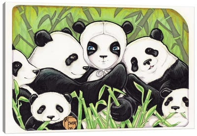 Panda Family Canvas Art Print