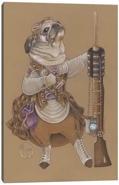 Pug Steampunk Canvas Art Print
