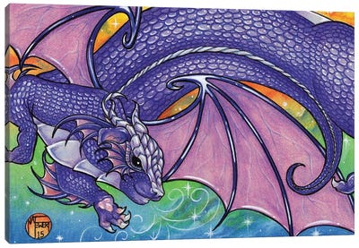 Purple Dragon Canvas Art Print