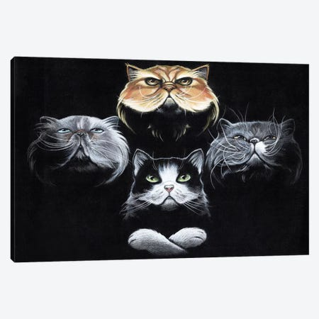 Queen Cats Canvas Print #NEW26} by Natalie Ewert Canvas Artwork