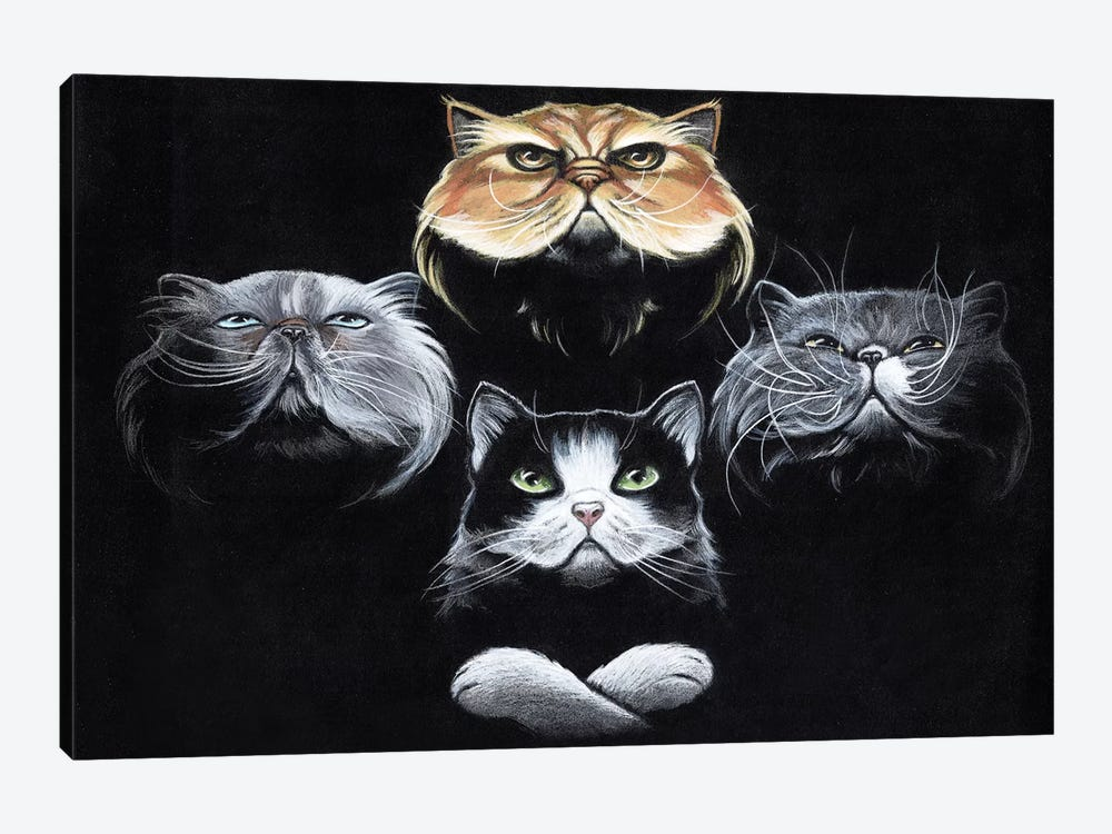 Queen Cats by Natalie Ewert 1-piece Art Print