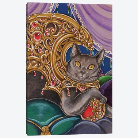 Cat Cato 3-Piece Canvas #NEW2} by Natalie Ewert Canvas Print