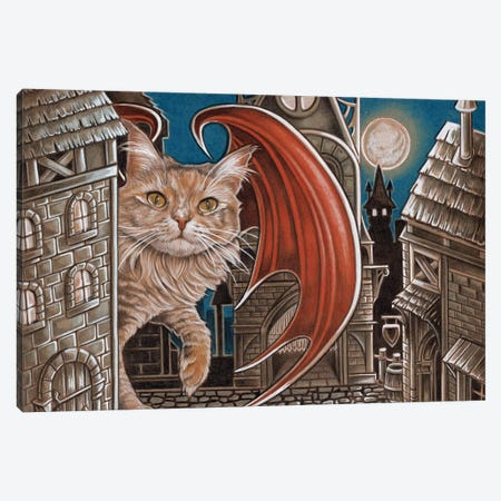 Trouble Cat Canvas Print #NEW31} by Natalie Ewert Canvas Art