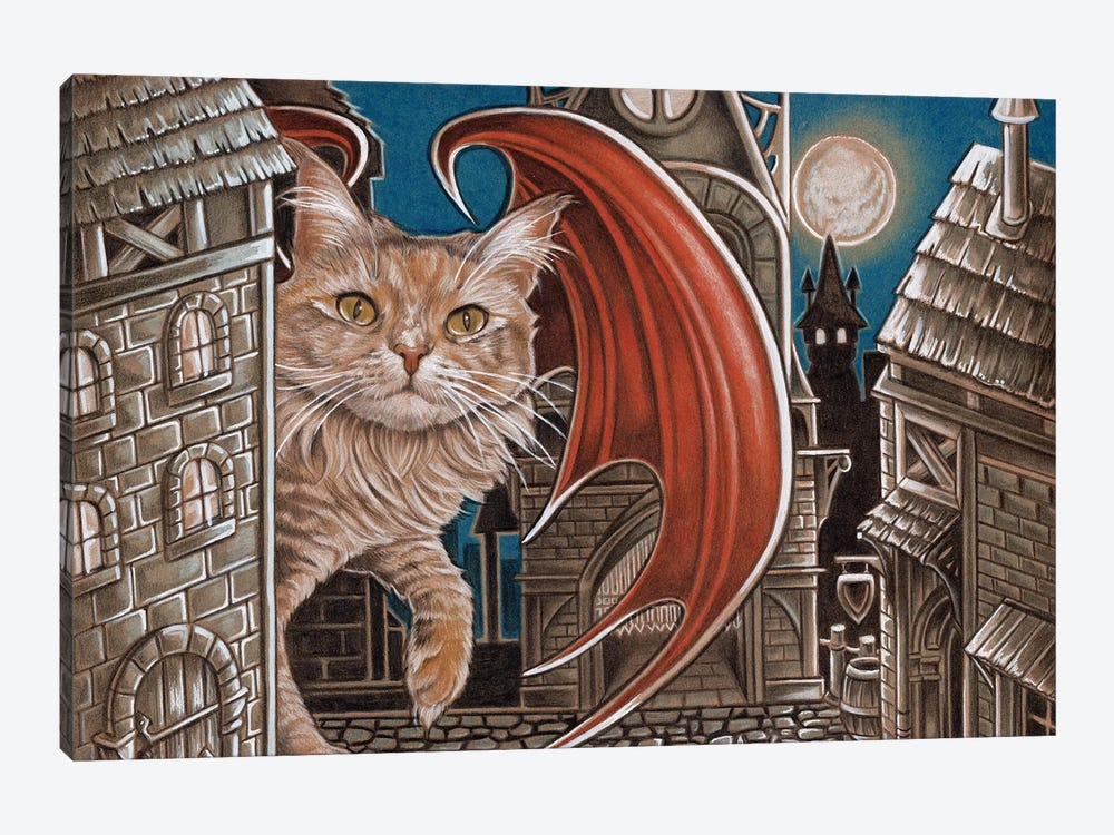 Trouble Cat by Natalie Ewert 1-piece Canvas Print