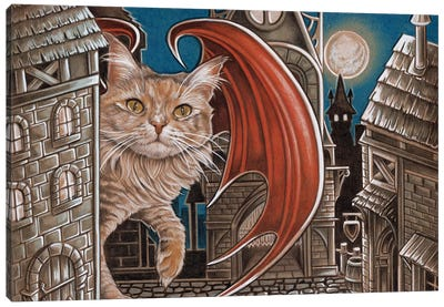 Trouble Cat Canvas Art Print
