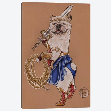 Wonder Woman Mabel Canvas Print #NEW32} by Natalie Ewert Canvas Artwork