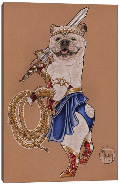 Wonder Woman Mabel Canvas Art Print