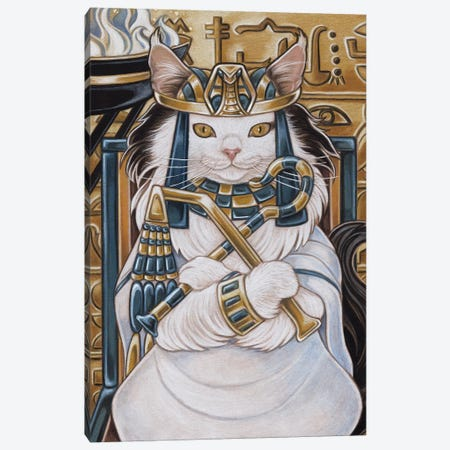 Cat Nefertiti Canvas Print #NEW3} by Natalie Ewert Canvas Print