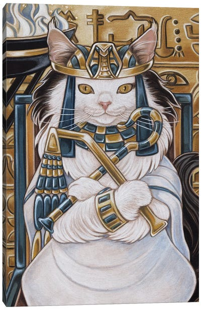 Cat Nefertiti Canvas Art Print