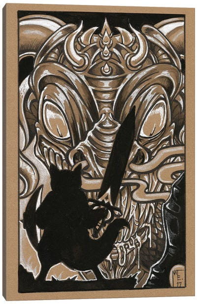 Cat Warrior Canvas Art Print