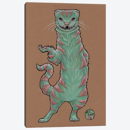 Cheshire Ferret Canvas Print #NEW5} by Natalie Ewert Canvas Artwork