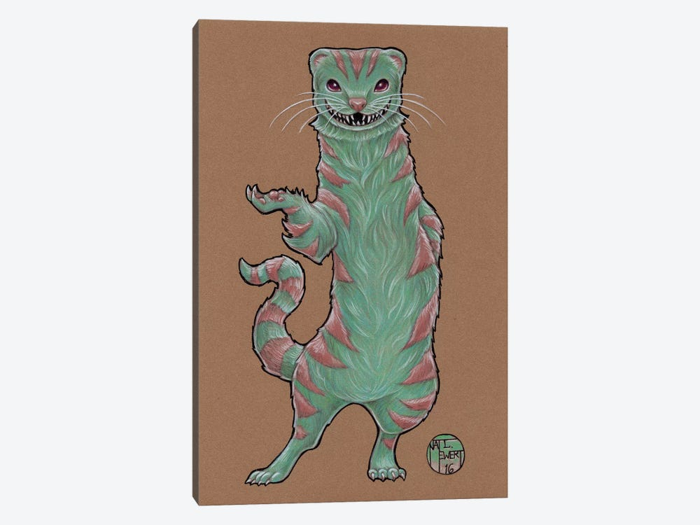 Cheshire Ferret by Natalie Ewert 1-piece Canvas Wall Art