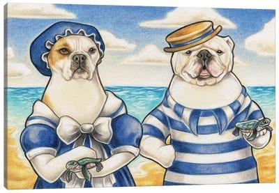 Coney Island Dogs Canvas Art Print