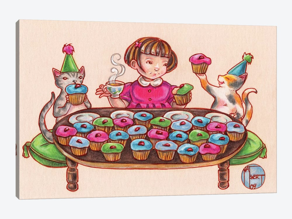 Cupcake Party 1-piece Canvas Wall Art