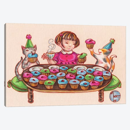 Cupcake Party Canvas Print #NEW7} by Natalie Ewert Canvas Wall Art