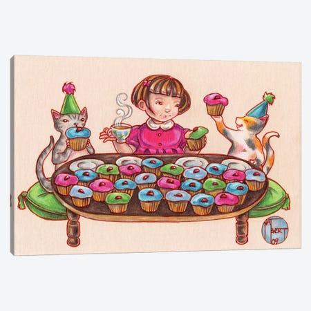 Cupcake Party Canvas Print #NEW7} by Natalie Ewert Canvas Wall Art