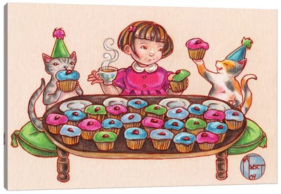 Cupcake Party Canvas Art Print