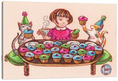 Cupcake Party Canvas Art Print
