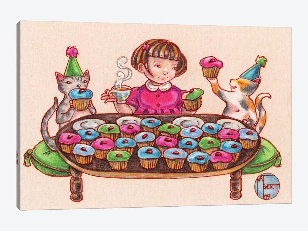 Cupcake Party by Natalie Ewert 1-piece Canvas Wall Art