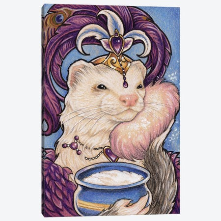 Ferret Bailey Showgirl Canvas Print #NEW8} by Natalie Ewert Art Print