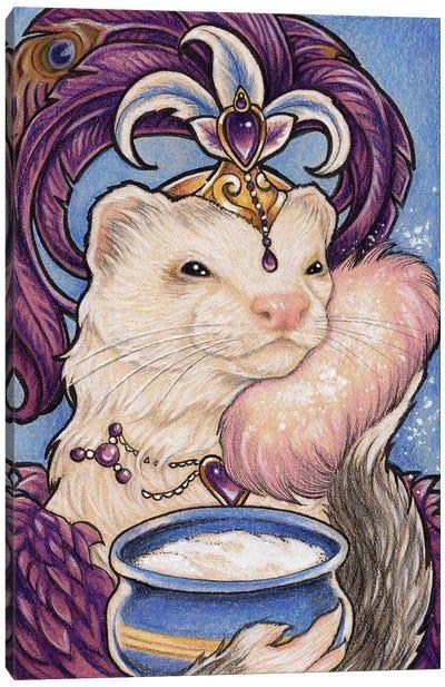 Ferret Bailey Showgirl Canvas Art Print