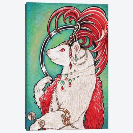 Ferret Gigi Canvas Print #NEW9} by Natalie Ewert Canvas Art Print
