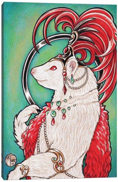 Ferret Gigi Canvas Art Print