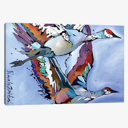 Cranes Canvas Print #NGA13} by Nicole Gaitan Art Print