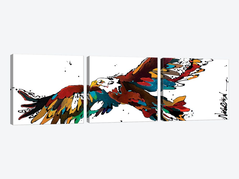 Freedom Flyer by Nicole Gaitan 3-piece Art Print