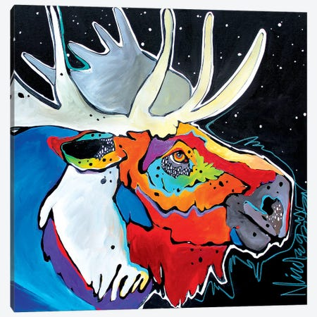 Moosing Around Canvas Print #NGA28} by Nicole Gaitan Canvas Art