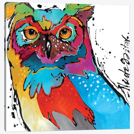 Owl Canvas Print #NGA31} by Nicole Gaitan Art Print