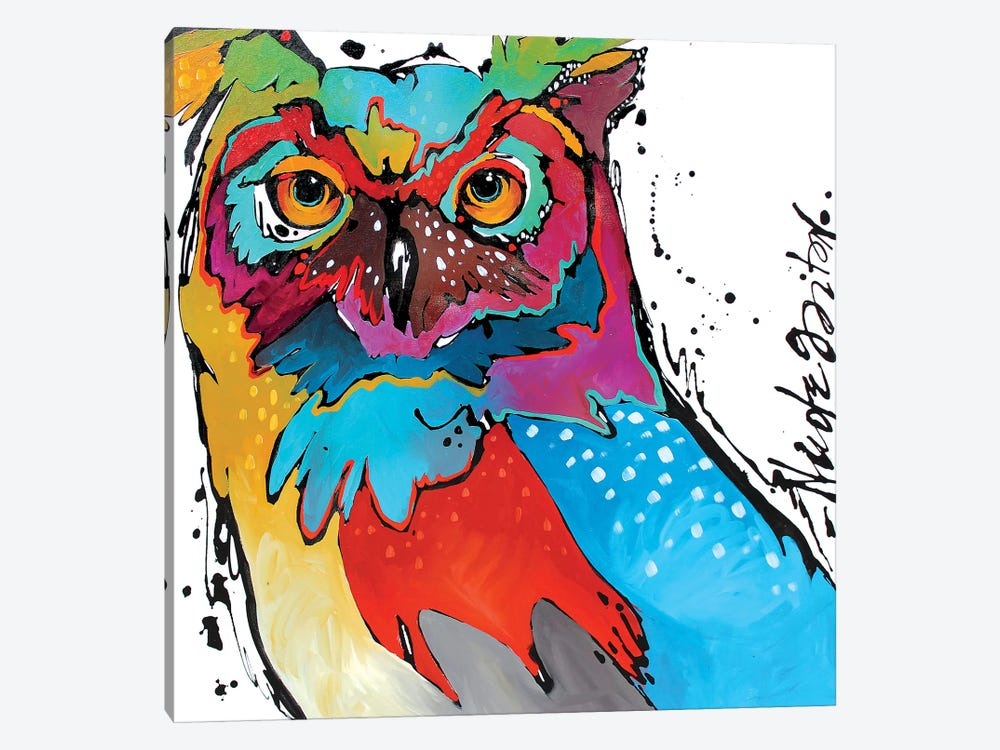 Owl by Nicole Gaitan 1-piece Canvas Wall Art