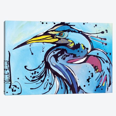 Big Blue Canvas Print #NGA6} by Nicole Gaitan Canvas Print