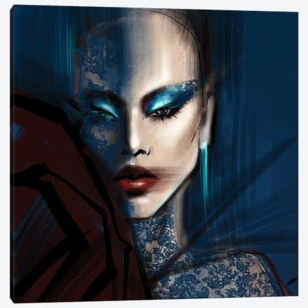 Laced in Blue Canvas Print #NGB11} by Natalia Nagibina Canvas Art