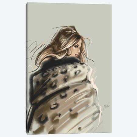 Layered In Leopard Canvas Print #NGB12} by Natalia Nagibina Canvas Art