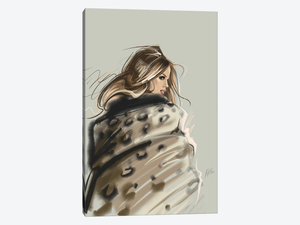 Layered In Leopard 1-piece Canvas Print
