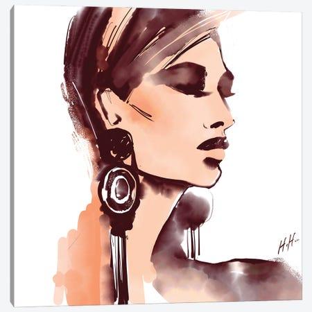 Mod Earrings Canvas Print #NGB14} by Natalia Nagibina Canvas Art Print