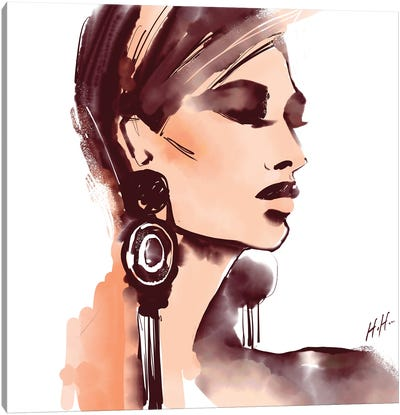 Mod Earrings Canvas Art Print