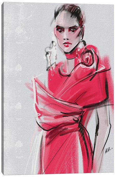 Pink Elie Saab Canvas Art Print