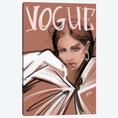 Pink Vogue Canvas Print #NGB18} by Natalia Nagibina Canvas Artwork