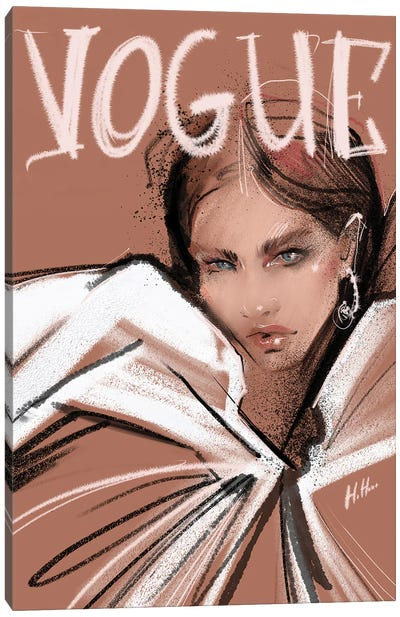 Pink Vogue Canvas Art Print
