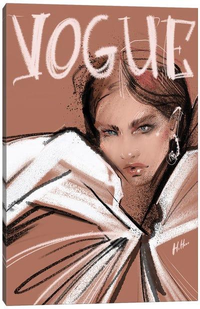 Pink Vogue Canvas Art Print