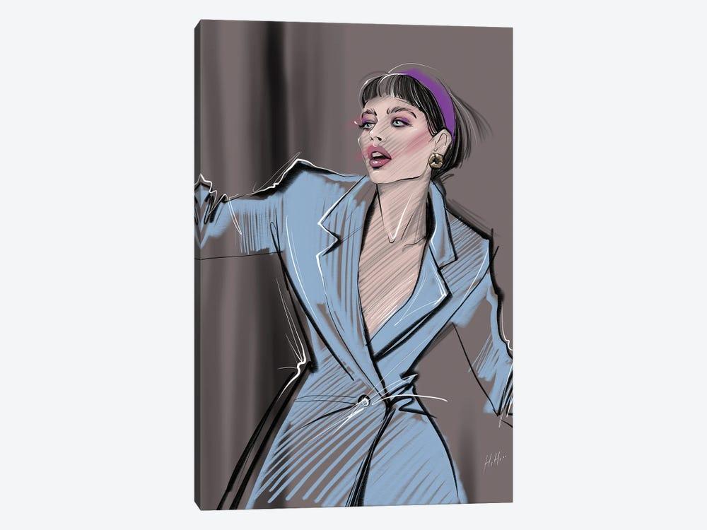 Powder Blue Power Suit by Natalia Nagibina 1-piece Canvas Wall Art