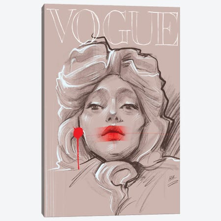 Red Vogue Canvas Print #NGB21} by Natalia Nagibina Art Print