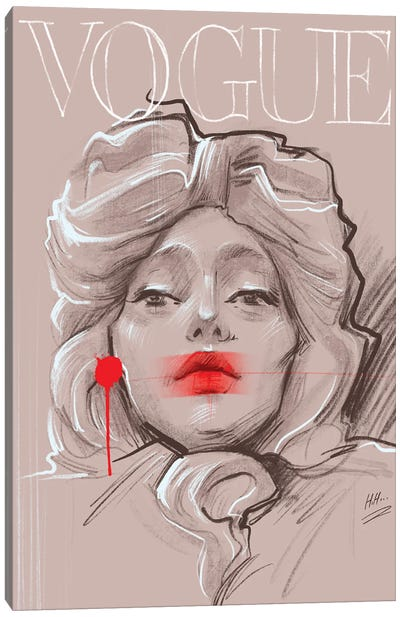 Red Vogue Canvas Art Print