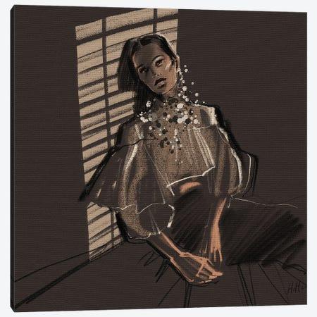 Shadey Lady Canvas Print #NGB23} by Natalia Nagibina Canvas Art Print